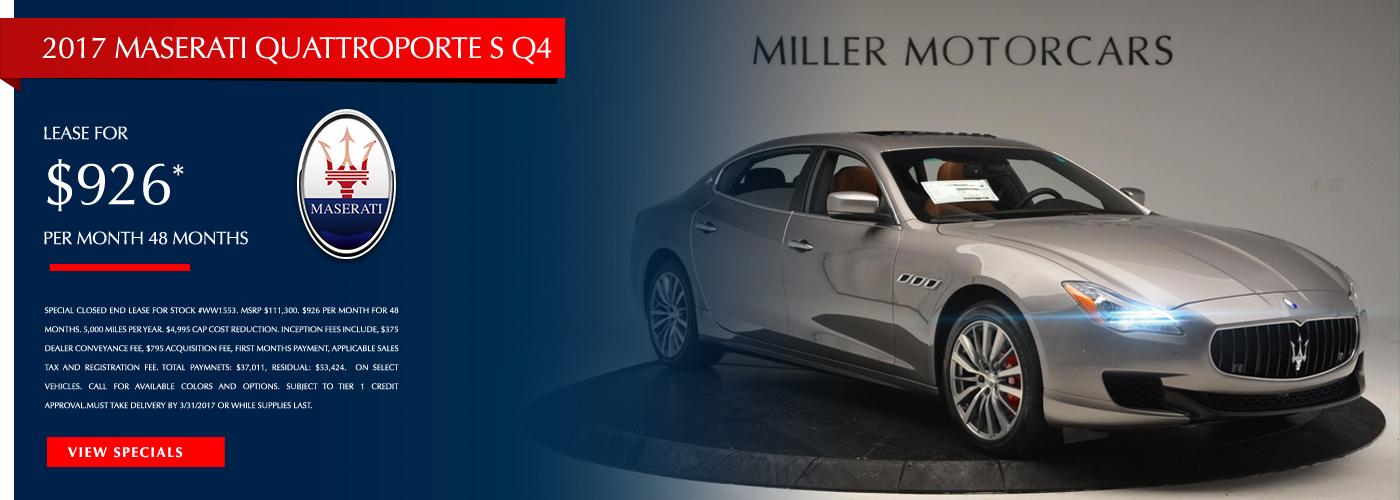 2017 Maserati Quattroporte S Q4 Lease Special