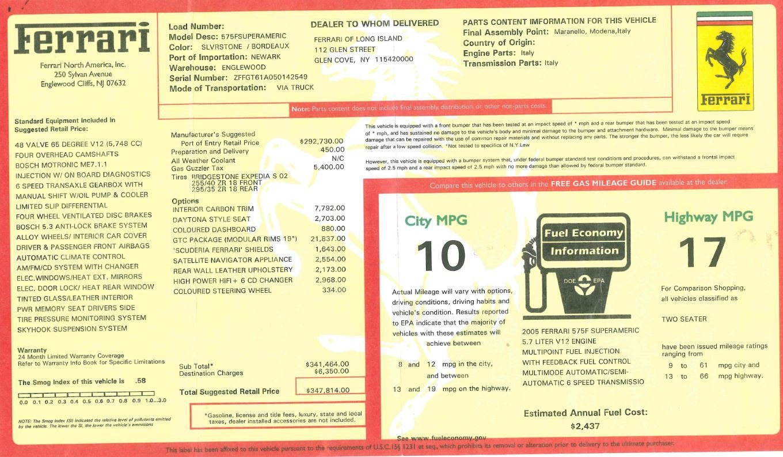 Used 2005 Ferrari Superamerica  For Sale In Greenwich, CT 125_p32