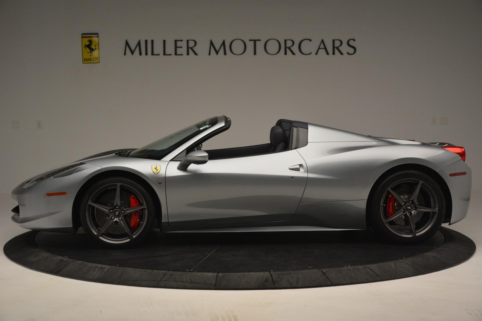 Used 2015 Ferrari 458 Spider  For Sale In Greenwich, CT 1667_p3