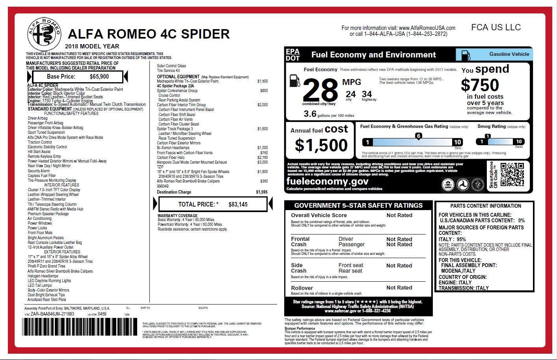 New 2018 Alfa Romeo 4C Spider For Sale In Greenwich, CT 1878_p28