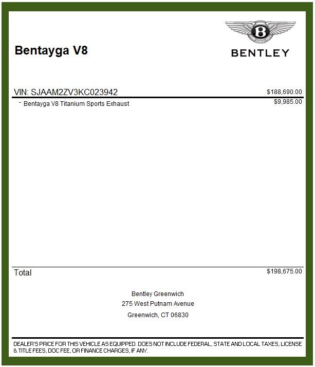 Used 2019 Bentley Bentayga V8 For Sale In Greenwich, CT 2162_p31