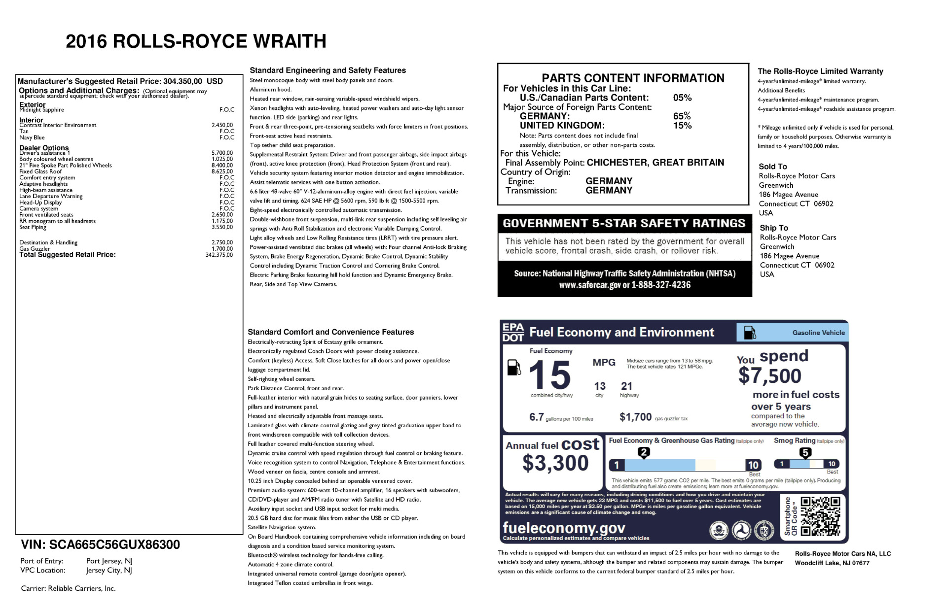 Used 2016 Rolls-Royce Wraith  For Sale In Greenwich, CT 219_p24