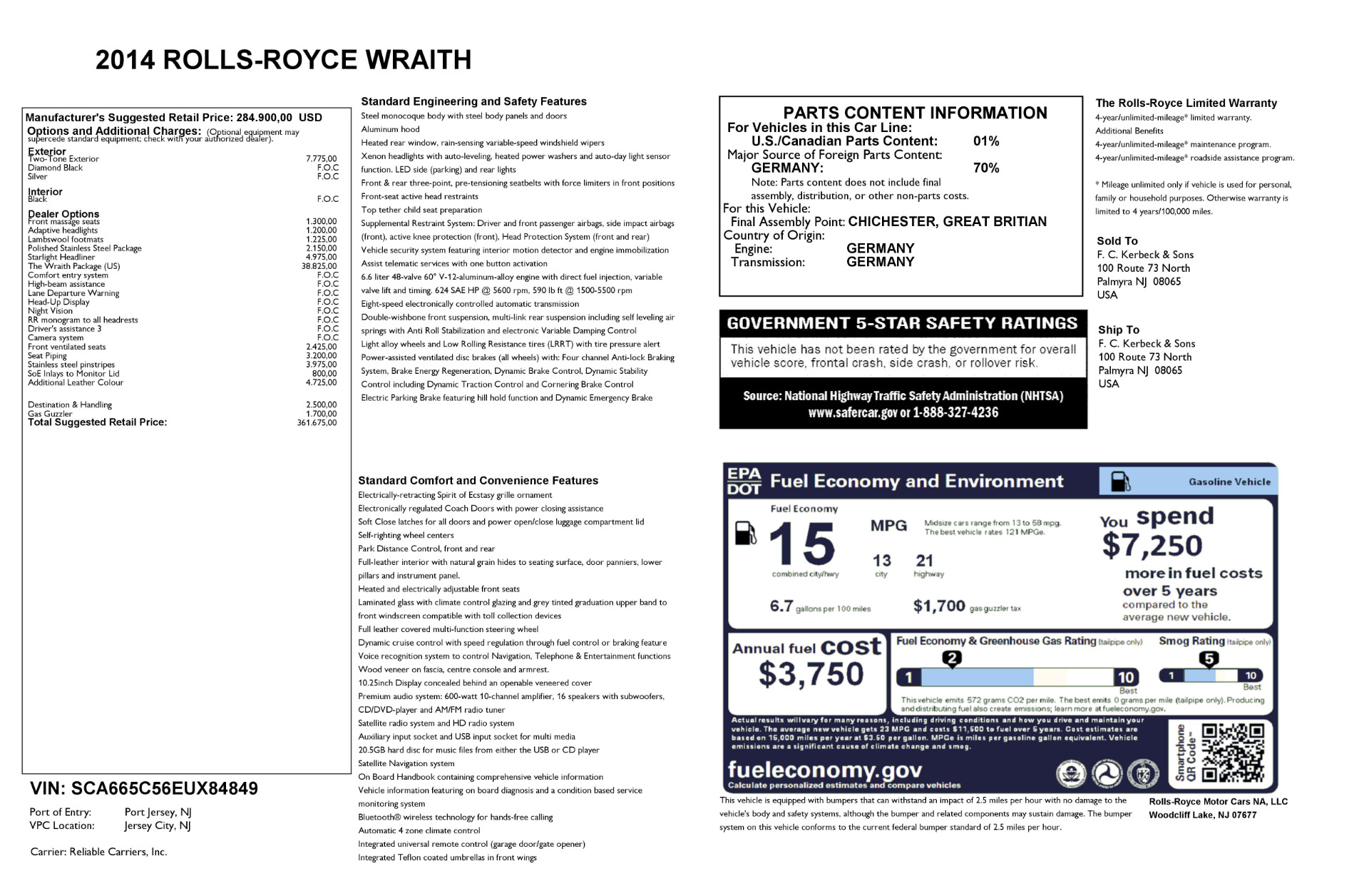 Used 2014 Rolls-Royce Wraith  For Sale In Greenwich, CT 2216_p29