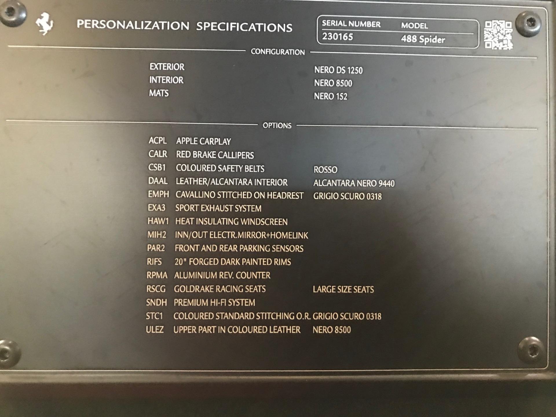 Used 2018 Ferrari 488 Spider  For Sale In Greenwich, CT 2245_p32