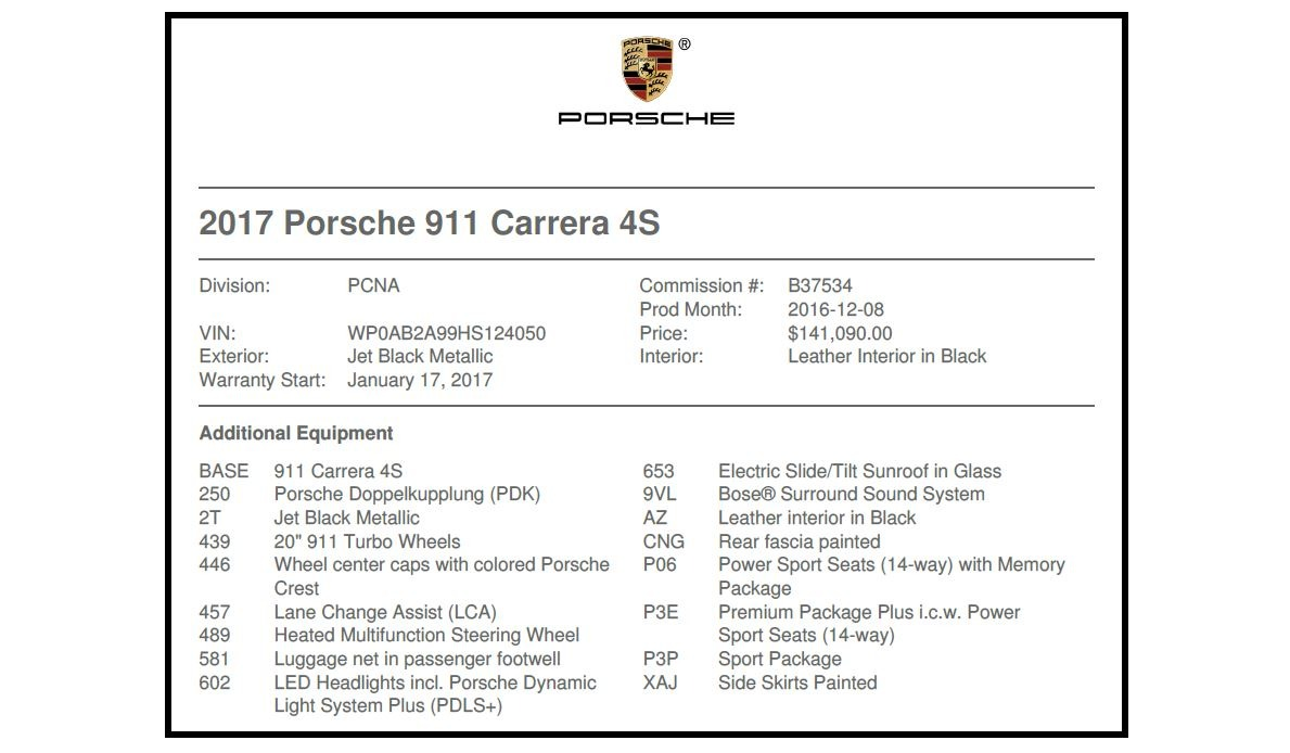 Used 2017 Porsche 911 Carrera 4S For Sale In Greenwich, CT 2887_p21