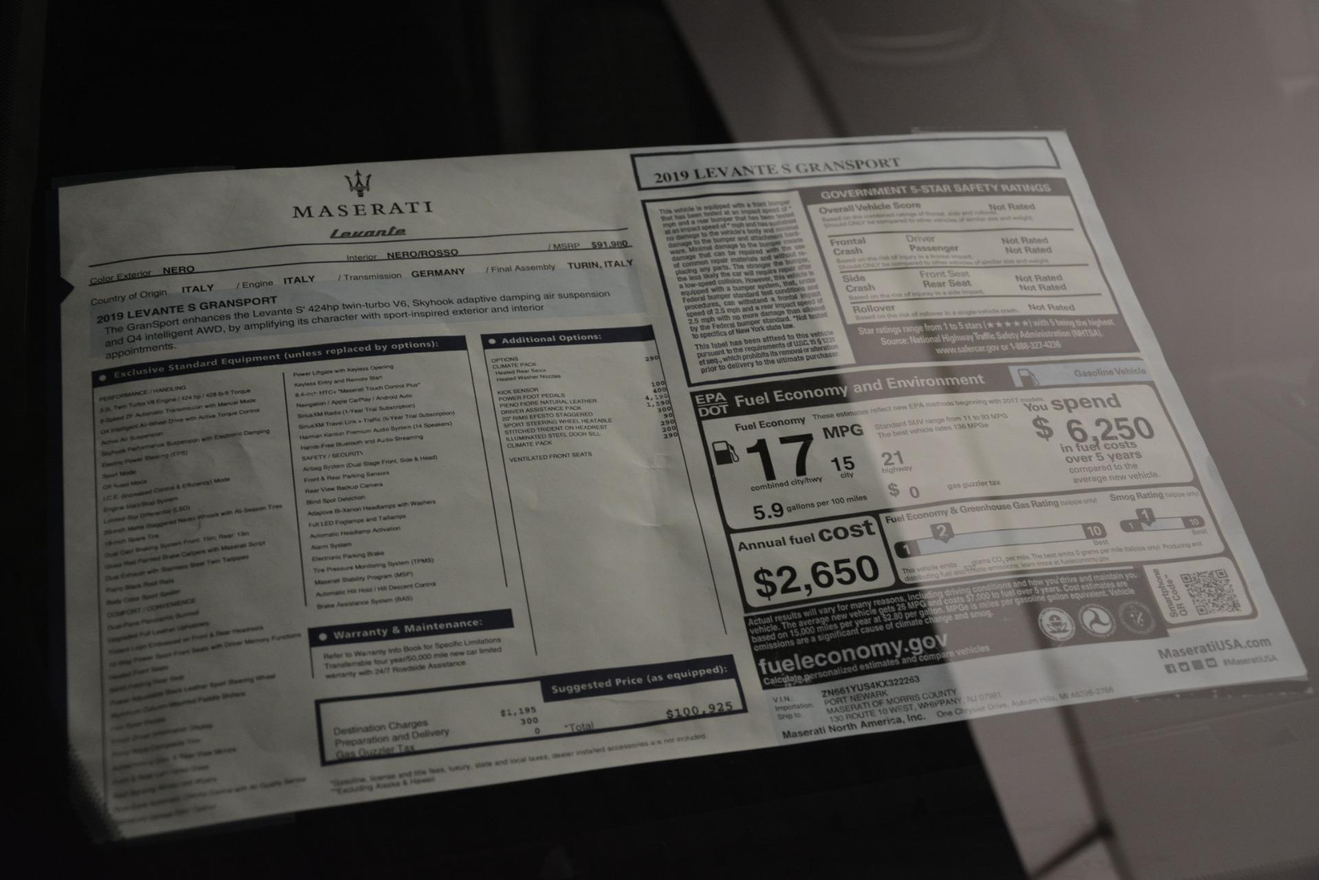 New 2019 Maserati Levante S Q4 GranSport For Sale In Greenwich, CT 3034_p31