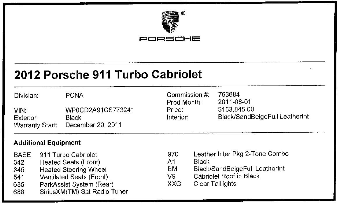 Used 2012 Porsche 911 Turbo For Sale In Greenwich, CT 3063_p28