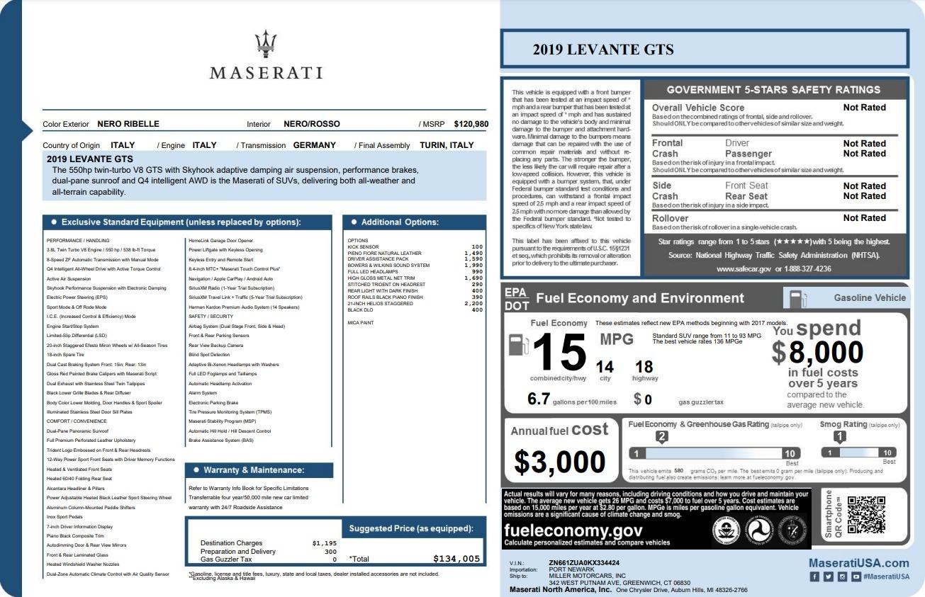 New 2019 Maserati Levante GTS For Sale In Greenwich, CT 3140_p22