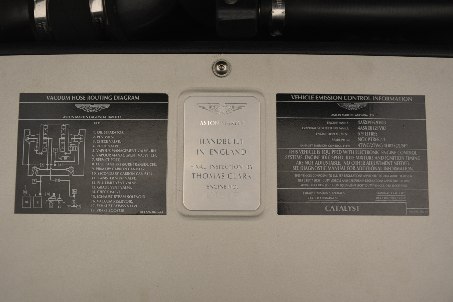 Used 2004 Aston Martin V12 Vanquish  For Sale In Greenwich, CT 3160_p18