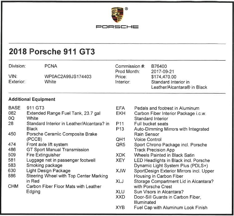 Used 2018 Porsche 911 GT3 For Sale In Greenwich, CT 3176_p20