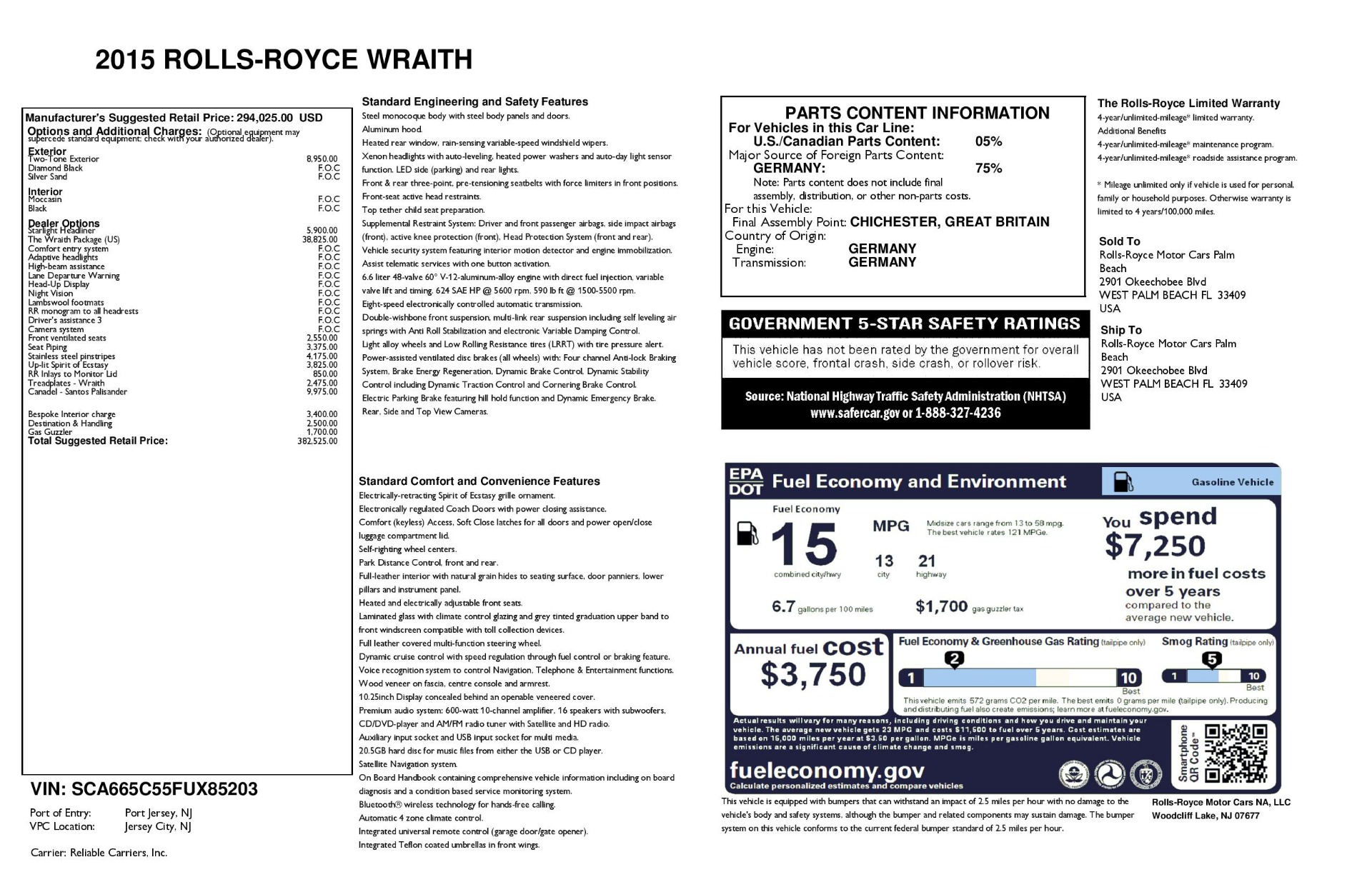 Used 2015 Rolls-Royce Wraith  For Sale In Greenwich, CT 3184_p33