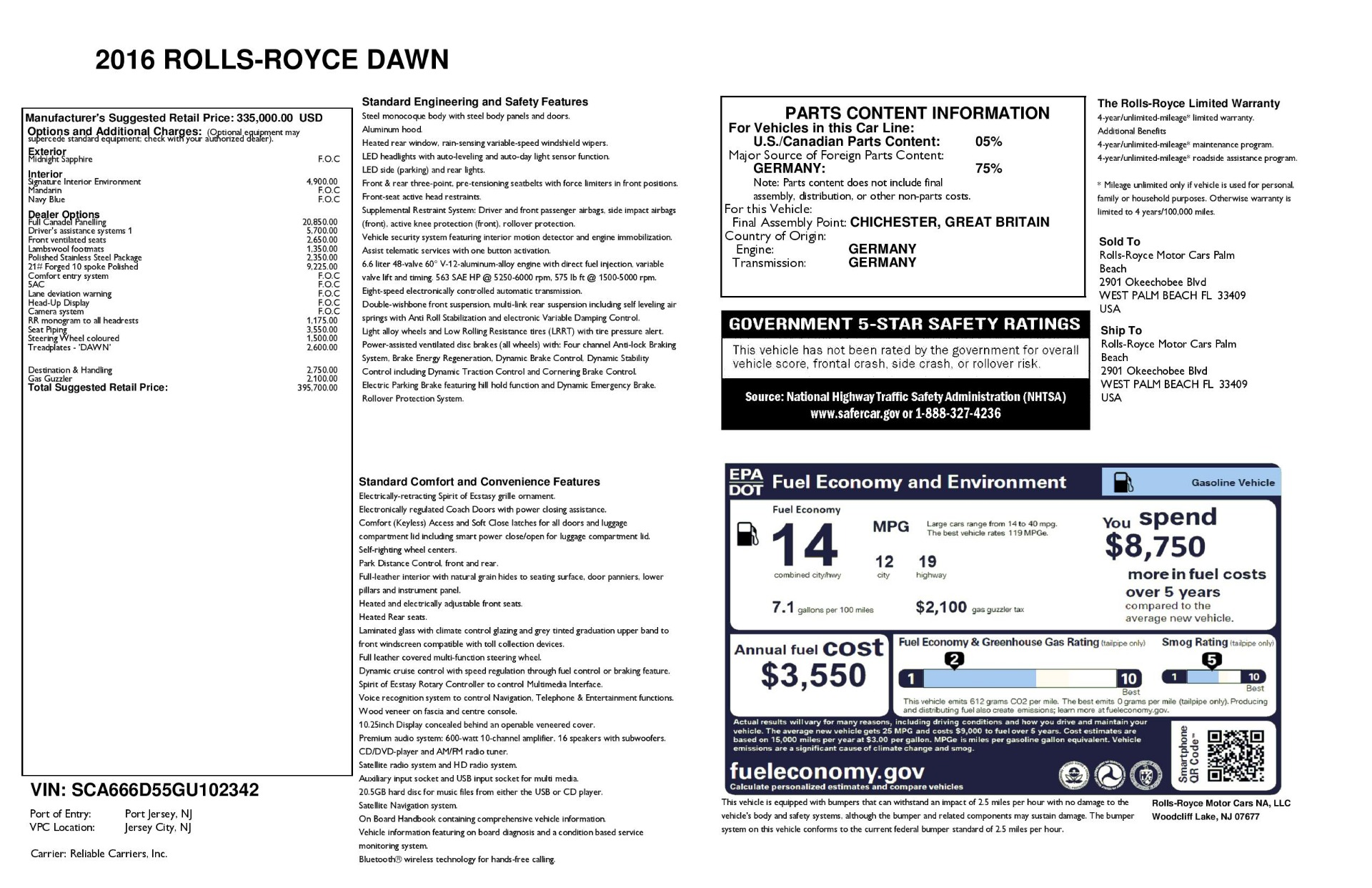 Used 2016 Rolls-Royce Dawn  For Sale In Greenwich, CT 3299_p32