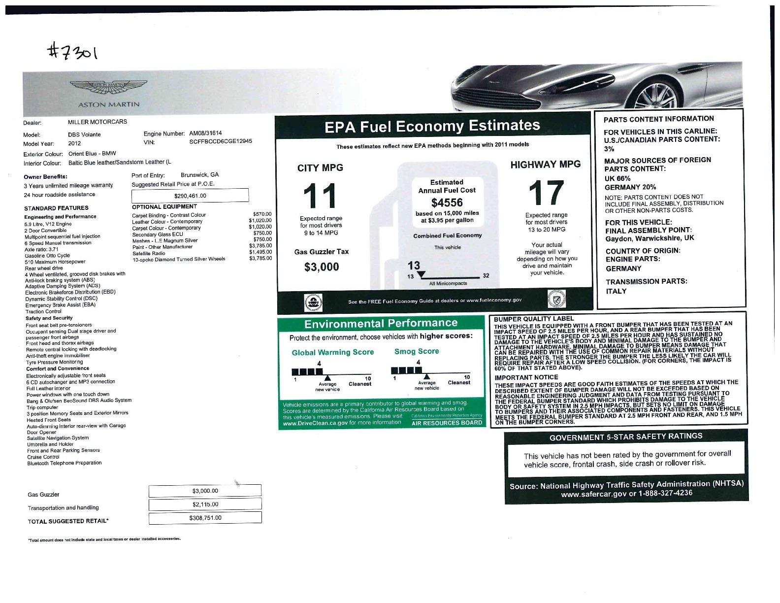 Used 2012 Aston Martin DBS Volante For Sale In Greenwich, CT 644_p37