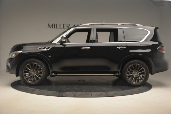 Used 2015 INFINITI QX80 Limited 4WD for sale Sold at Maserati of Greenwich in Greenwich CT 06830 3