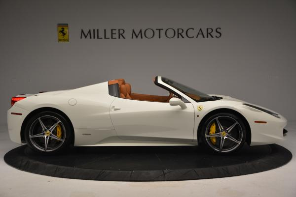 Used 2012 Ferrari 458 Spider for sale Sold at Maserati of Greenwich in Greenwich CT 06830 9