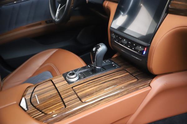 Used 2017 Maserati Quattroporte SQ4 GranLusso/ Zegna for sale $62,900 at Maserati of Greenwich in Greenwich CT 06830 22
