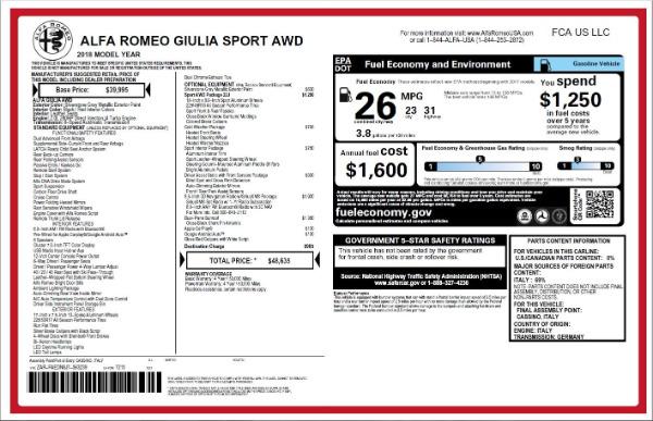 New 2018 Alfa Romeo Giulia Ti Sport Q4 for sale Sold at Maserati of Greenwich in Greenwich CT 06830 26
