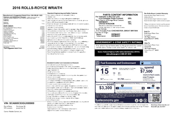 Used 2016 Rolls-Royce Wraith for sale Sold at Maserati of Greenwich in Greenwich CT 06830 28