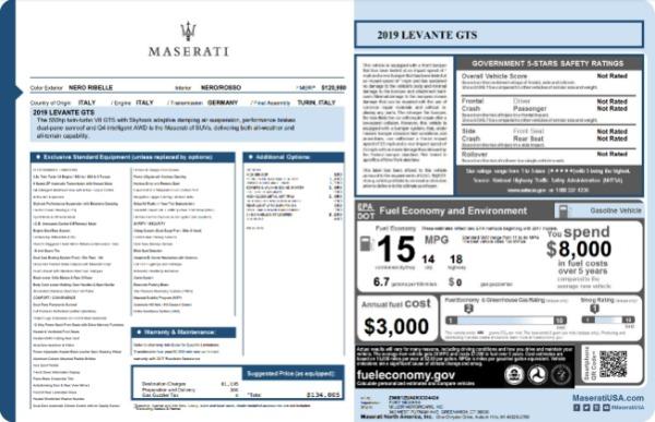 New 2019 Maserati Levante GTS for sale $134,005 at Maserati of Greenwich in Greenwich CT 06830 22