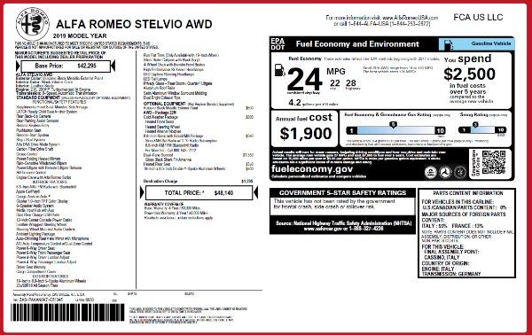New 2019 Alfa Romeo Stelvio Q4 for sale Sold at Maserati of Greenwich in Greenwich CT 06830 2