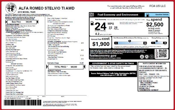 New 2019 Alfa Romeo Stelvio Ti Q4 for sale Sold at Maserati of Greenwich in Greenwich CT 06830 2