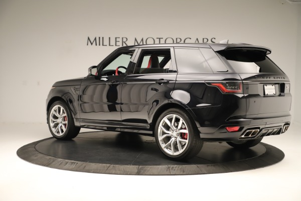 Used 2019 Land Rover Range Rover Sport SVR for sale Sold at Maserati of Greenwich in Greenwich CT 06830 4