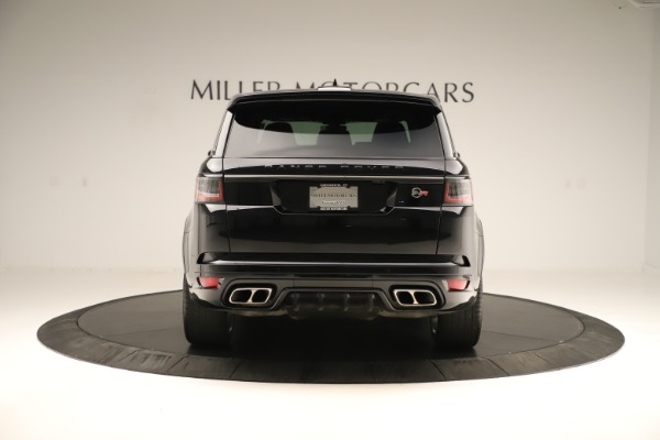 Used 2019 Land Rover Range Rover Sport SVR for sale Sold at Maserati of Greenwich in Greenwich CT 06830 6