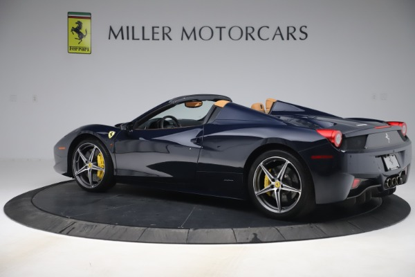 Used 2012 Ferrari 458 Spider for sale $194,900 at Maserati of Greenwich in Greenwich CT 06830 4
