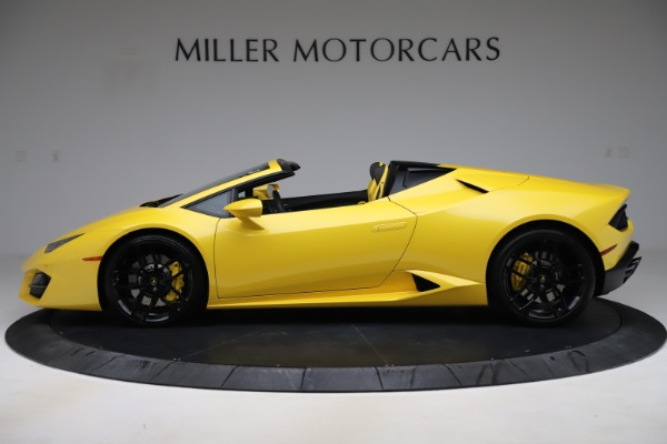Used 2018 Lamborghini Huracan LP 580-2 Spyder for sale $203,900 at Maserati of Greenwich in Greenwich CT 06830 3