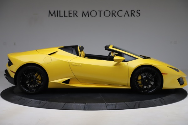Used 2018 Lamborghini Huracan LP 580-2 Spyder for sale $203,900 at Maserati of Greenwich in Greenwich CT 06830 9