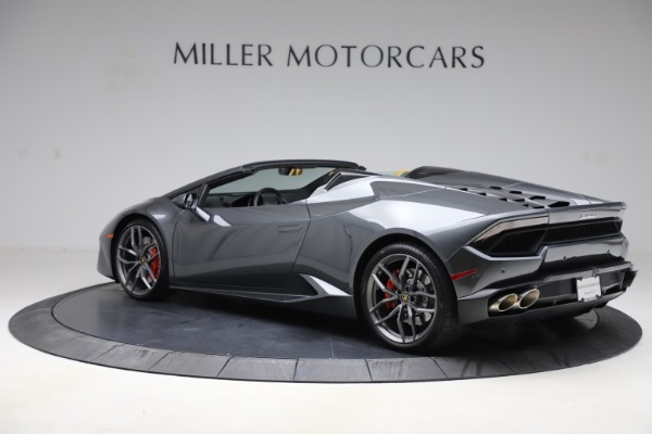 Used 2018 Lamborghini Huracan LP 580-2 Spyder for sale $203,900 at Maserati of Greenwich in Greenwich CT 06830 4