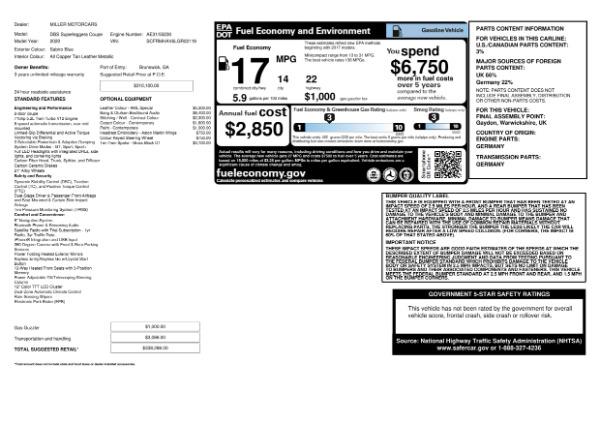 New 2020 Aston Martin DBS Superleggera for sale $338,286 at Maserati of Greenwich in Greenwich CT 06830 24
