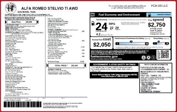 New 2020 Alfa Romeo Stelvio Ti Q4 for sale $51,045 at Maserati of Greenwich in Greenwich CT 06830 2