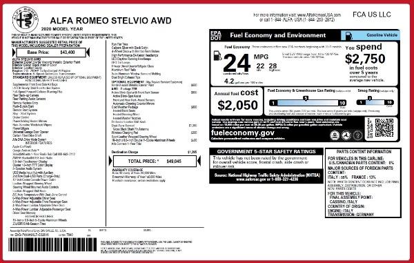 New 2020 Alfa Romeo Stelvio Q4 for sale Sold at Maserati of Greenwich in Greenwich CT 06830 2