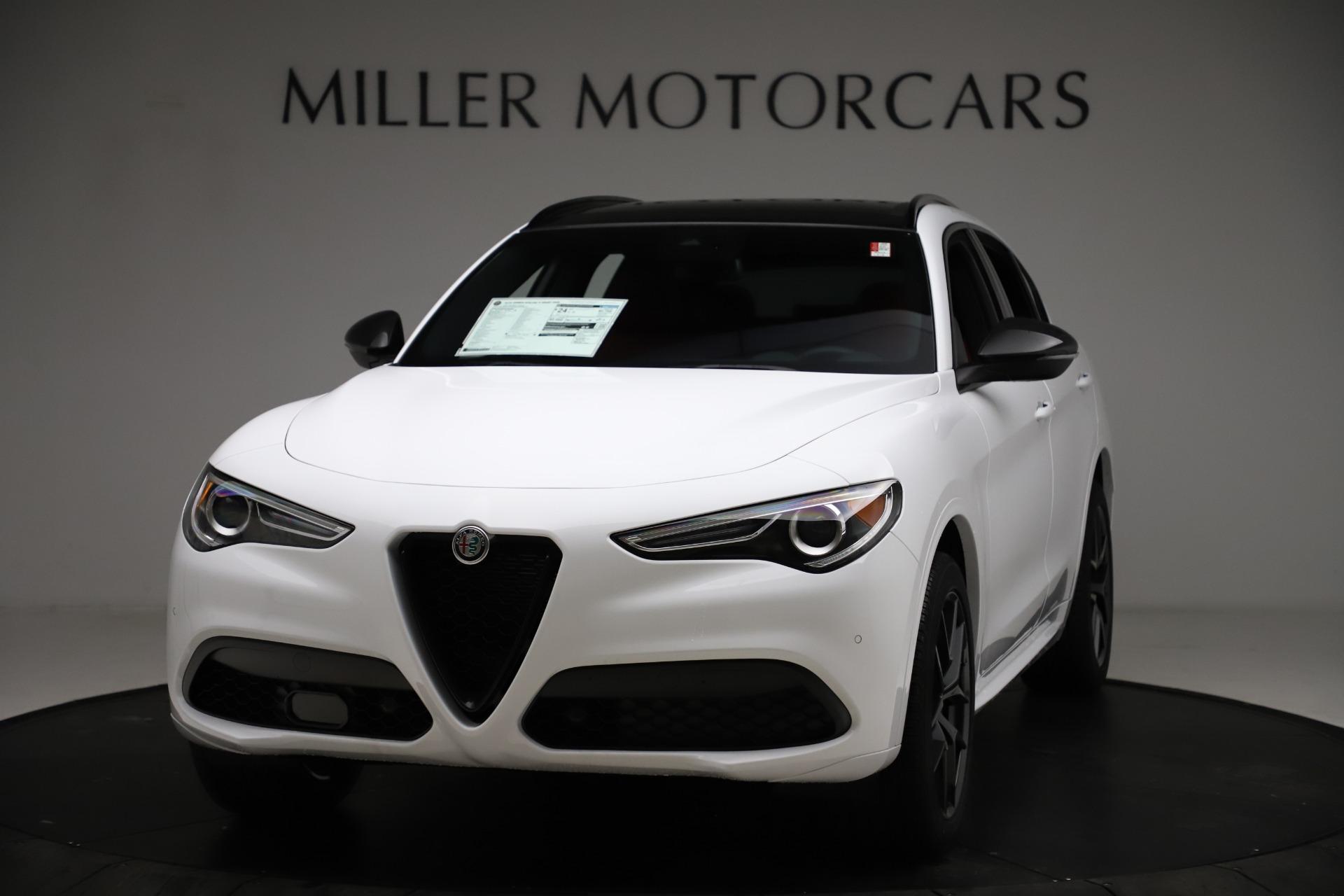 New 2021 Alfa Romeo Stelvio Ti Sport Q4 for sale $55,490 at Maserati of Greenwich in Greenwich CT 06830 1