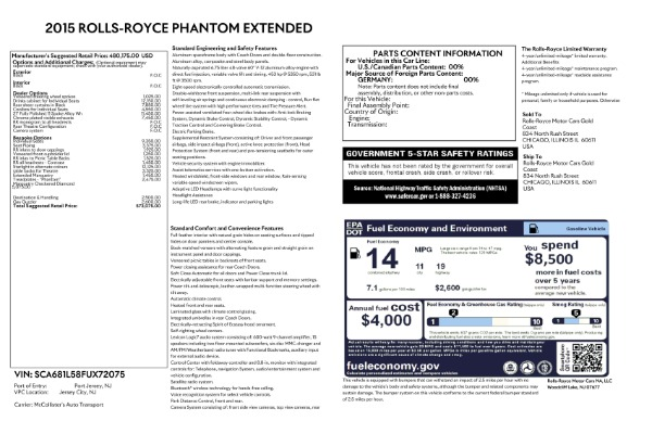 Used 2015 Rolls-Royce Phantom EWB for sale $279,900 at Maserati of Greenwich in Greenwich CT 06830 26