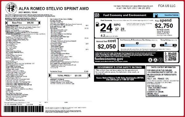 New 2021 Alfa Romeo Stelvio Q4 for sale $50,595 at Maserati of Greenwich in Greenwich CT 06830 2