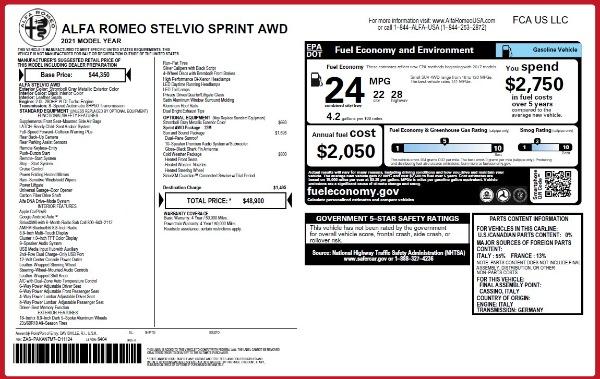 New 2021 Alfa Romeo Stelvio Q4 for sale $48,300 at Maserati of Greenwich in Greenwich CT 06830 2