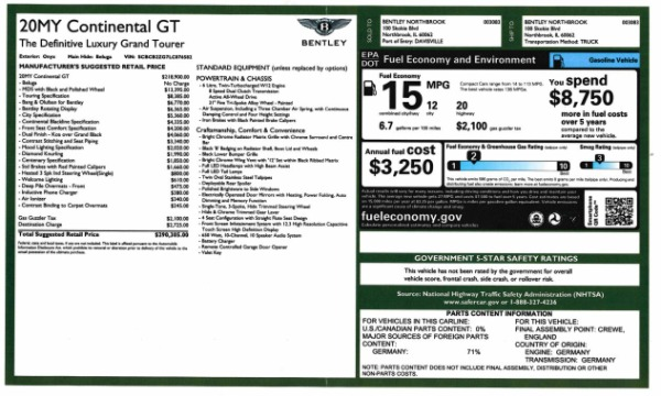 New 2020 Bentley Continental GT W12 for sale $290,305 at Maserati of Greenwich in Greenwich CT 06830 28