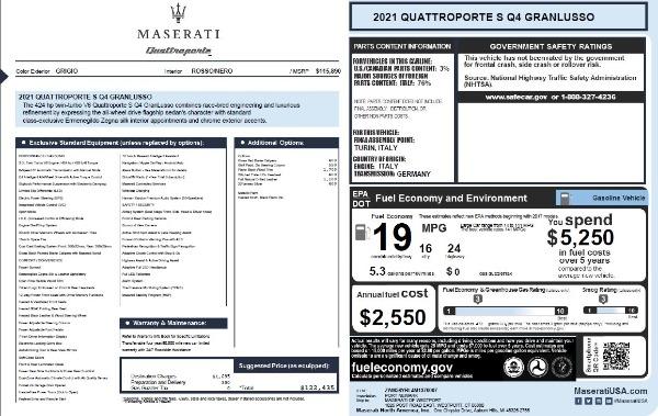 New 2021 Maserati Quattroporte S Q4 GranLusso for sale $122,435 at Maserati of Greenwich in Greenwich CT 06830 27