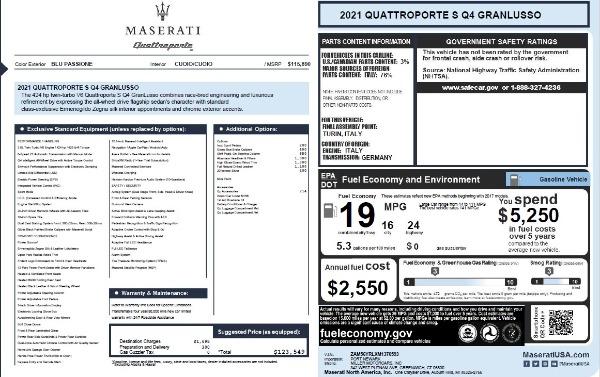 New 2021 Maserati Quattroporte S Q4 GranLusso for sale $123,549 at Maserati of Greenwich in Greenwich CT 06830 25