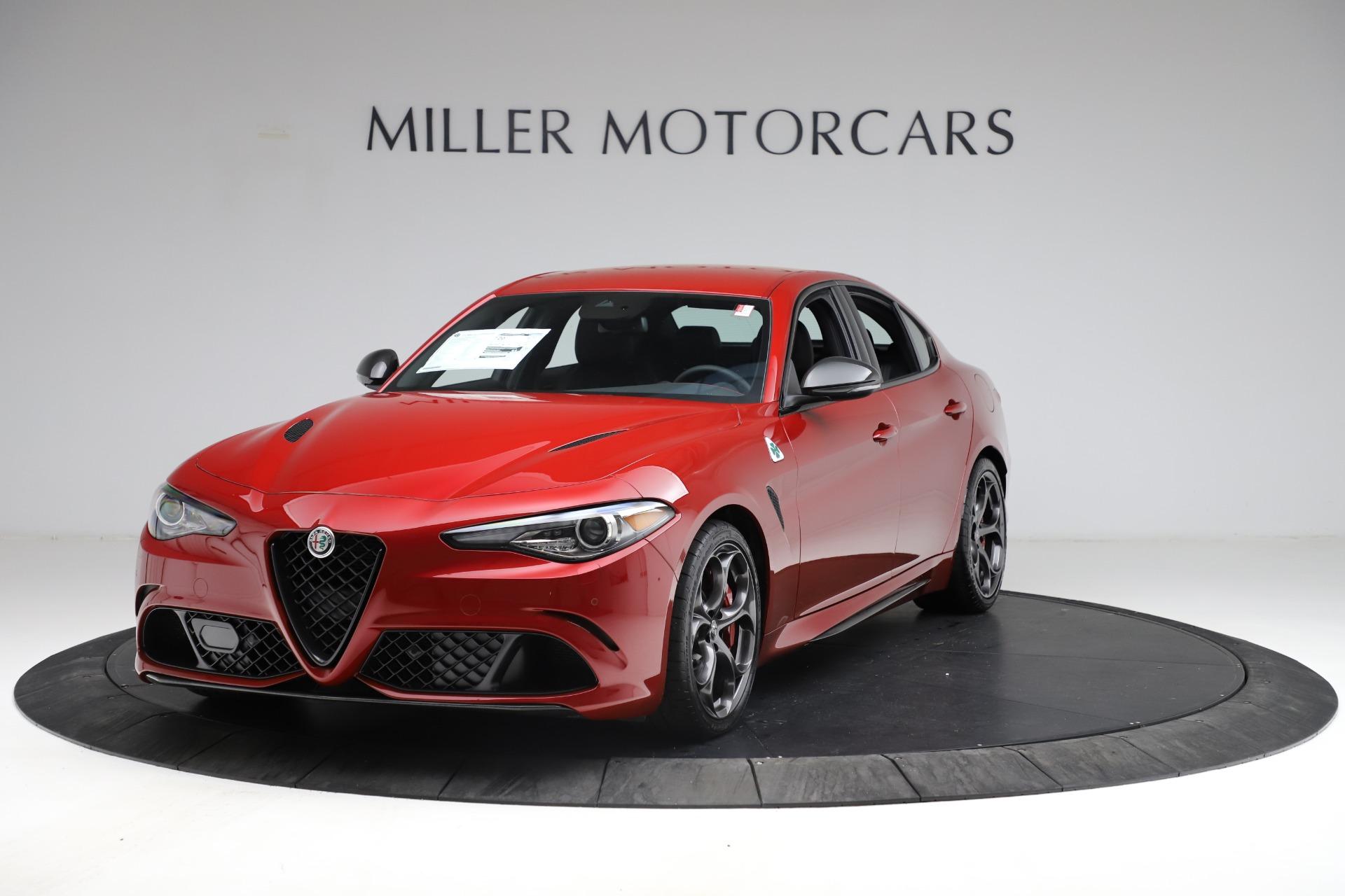 New 2021 Alfa Romeo Giulia Quadrifoglio for sale $83,740 at Maserati of Greenwich in Greenwich CT 06830 1