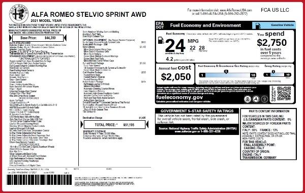 New 2021 Alfa Romeo Stelvio Q4 for sale $51,195 at Maserati of Greenwich in Greenwich CT 06830 2