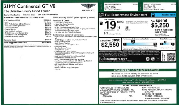 Used 2021 Bentley Continental GT V8 for sale Call for price at Maserati of Greenwich in Greenwich CT 06830 27