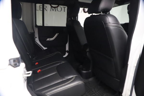 Used 2015 Jeep Wrangler Unlimited Rubicon Hard Rock for sale $39,900 at Maserati of Greenwich in Greenwich CT 06830 21