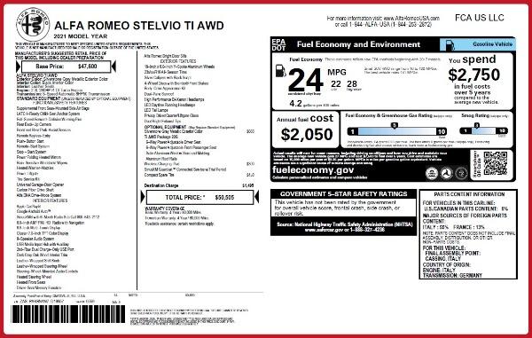 New 2021 Alfa Romeo Stelvio Ti Q4 for sale Sold at Maserati of Greenwich in Greenwich CT 06830 20