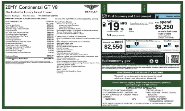 Used 2020 Bentley Continental GT V8 for sale $249,900 at Maserati of Greenwich in Greenwich CT 06830 28