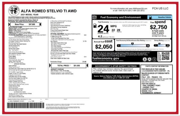 New 2021 Alfa Romeo Stelvio Ti for sale $51,955 at Maserati of Greenwich in Greenwich CT 06830 24