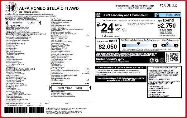 New 2021 Alfa Romeo Stelvio Ti Q4 for sale $53,740 at Maserati of Greenwich in Greenwich CT 06830 24